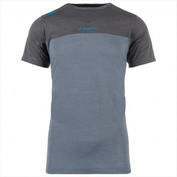 La Sportiva Adult Unisex Crunch Rock Climbing T-shirt, L Slate/Carbon