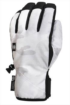 686 Ruckus Pipe Ski/Snowboard Gloves, S White Camo
