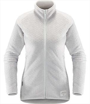 Haglofs Sensum Women's Full Zip Fleece Jacket, XL Stone Grey