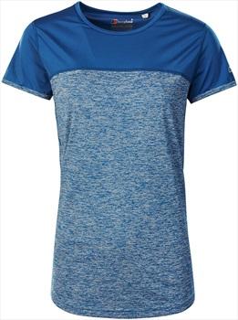 Berghaus Voyager Tech Women's Short Sleeve T-Shirt, UK 8 Galaxy Blue