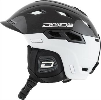 Dirty Dog Crater Snowboard/Ski Helmet, S Matte White Black
