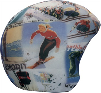 Coolcasc Printed Cool Ski/Snowboard Helmet Cover, One Size, Vintage
