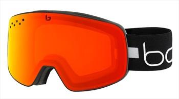 Bolle Nevada P'hromic Fire Red Snowboard/Ski Goggles, Matte Black Line