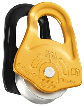 Petzl Partner Pulley Compact Climbing Pulley, Yellow