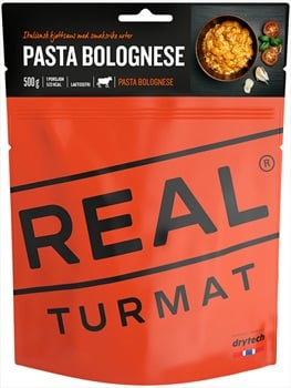 Real Turmat Pasta Bolognese Camping & Hiking Food, Single Pouch