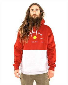Armada Multiply Pullover Hoodie, S Red Chilli