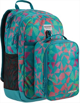 Burton Lunch N Pack Kid's Backpack, 35L Green Blue Slate