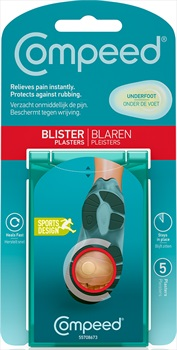 Compeed Underfoot 5 Blister Plasters, Clear