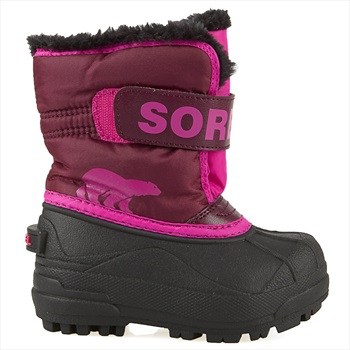 Sorel Snow Commander Kid's Snow Boots, UK Child 8 Purple Dahlia/Pink