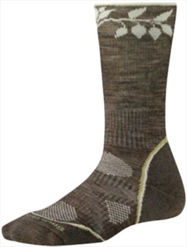 Smartwool PhD Outdoor Light Crew Women's Hiking Socks 2-4.5 Taupe