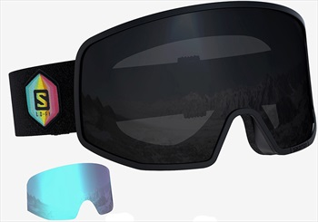 Salomon Lo Fi Black Snowboard/Ski Goggles, M/L Huck Knife