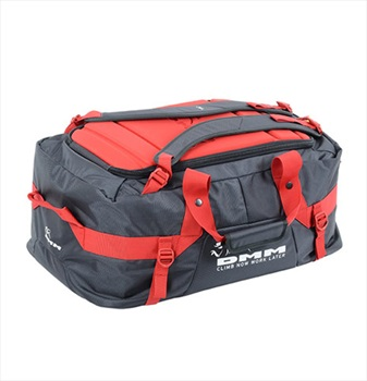 DMM Void Rock Climbing Duffel Bag, 75L Grey/Red