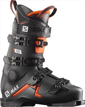Salomon S/Max 100 Ski Boots, 27/27.5 Black/Orange 2020
