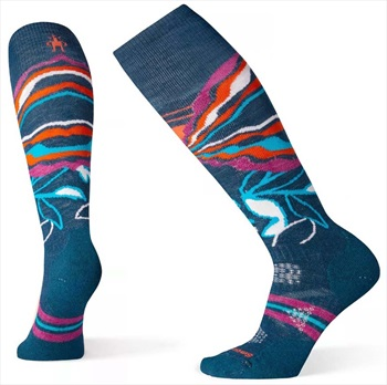 Smartwool PhD® Ski Medium Pattern Women's Ski Socks, L Deep Marlin