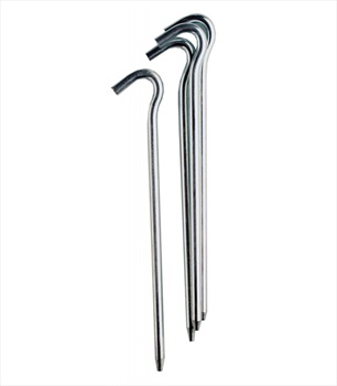 Vango Alloy Tent Pin 18cm Camping Ground Pin, 10 Pack Silver