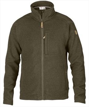 Fjallraven Buck Fleece Zip Up Knitted Jacket, S Dark Olive