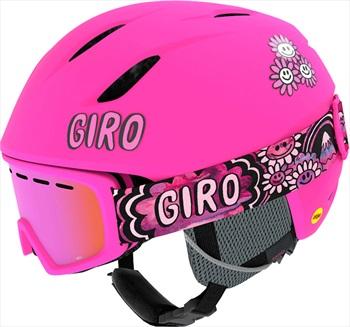 Giro Launch Combo Kids Ski/Snowboard Helmet, S Bright Pink Psych