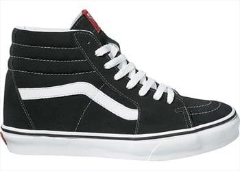 Vans Sk8-Hi Skate Shoes, UK 7 Black/White