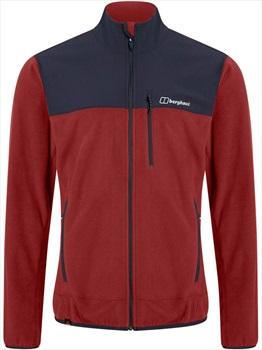 Berghaus Kyberg Full-Zip Polartec Thermal Fleece Jacket, L Red Dahlia