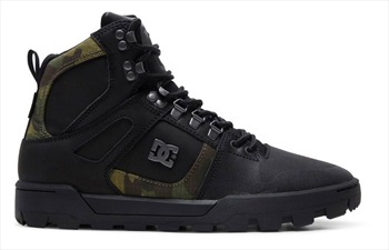 DC Pure High-Top WR Men's Winter Boots, UK 7 Black/Camo