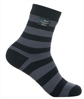 DexShell Ultra Lite Bamboo Waterproof Socks UK 6-8 Stripe Black/Grey