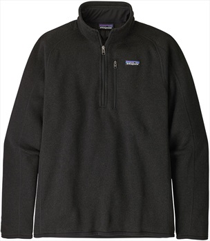 Patagonia Better Sweater 1/4 Zip Pullover Fleece Jacket, L All Black
