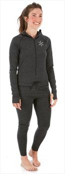 Airblaster Womens Merino Ninja Thermal Base Layer Suit, S, Black