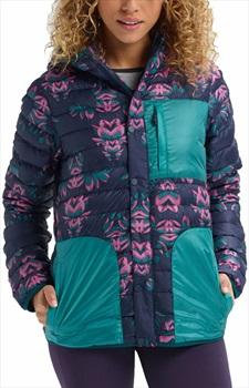 Burton Womens Evergreen Down Hooded Women's Jacket S Dress Blue Stylus
