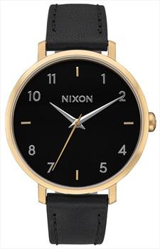 Nixon Arrow Leather Women's Watch, Gold/Black