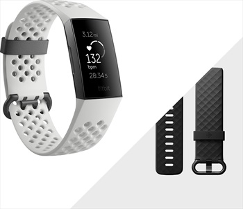 FitBit Fitbit Charge 3 SE Heart Rate & Fitness Tracker, White Sport