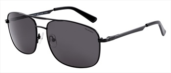 North Beach Saury Grey Polarised Sunglasses, Matte Black