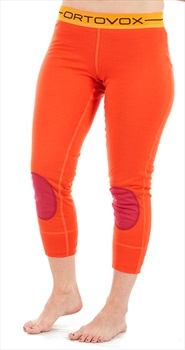 Ortovox Rock'n'Wool Short Women's Thermal Pants, XS Crazy Orange