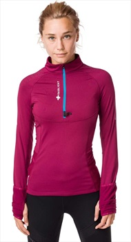 Raidlight Wintertrail Women's Long Sleeve Running Top, UK 10 Garnet