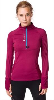 Raidlight Wintertrail Women's Long Sleeve Running Top, UK 12 Garnet