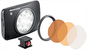 Manfrotto Lumimuse8 Bluetooth Rechargeable LED Light, 500 Lux Black