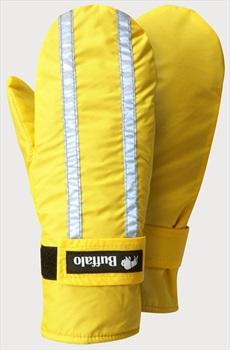Buffalo Adult Unisex Hi Viz Mitts Pile Lined Mittens - M, Yellow