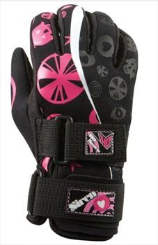 HO Sports Siren Ladies' Waterski Gloves, XS Black Pink