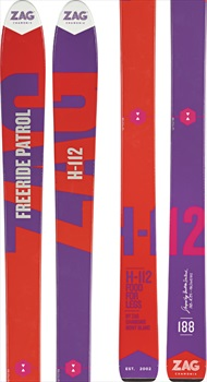 ZAG H-112 Skis, 188cm Red/Purple 2018
