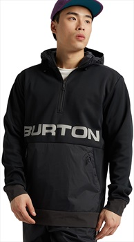 Burton Crown Bonded Hooded Pullover Fleece, L True Black