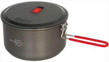 Bo-Camp Lightweight Pan Aluminium Camping Pan, 2L Anthracite