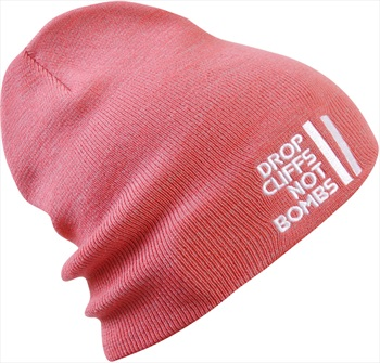 Planks Drop Cliffs Original Beanie Hat, Coral