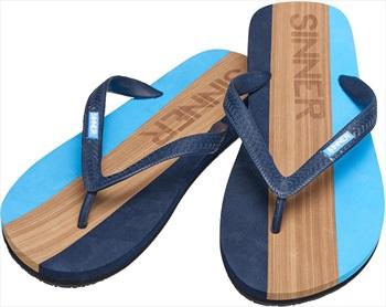 Sinner Capitola Men's Flip Flops, UK 8 / EU 42 Blue/Brown