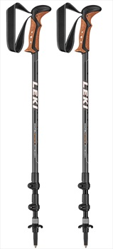 Leki Khumbu AntiShock Adjustable Trekking Poles, 110-145cm Black/White