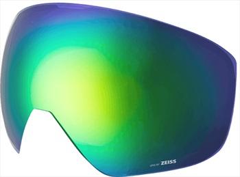 Melon Jackson Ski/Snowboard Goggle Lens, One Size Green Chrome Sonar