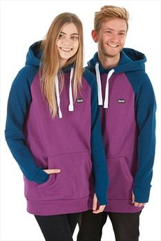 bro! Park Edition Ski/Snowboard Hoodie, L Burgundy/Navy