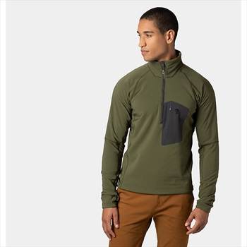 Mountain Hardwear Adult Unisex Keele Technical Pullover, S Dark Army