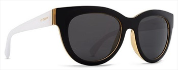 Von Zipper Queenie Grey Lens Sunglasses, Black Buff White Gloss