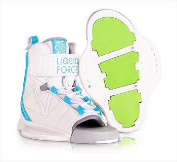 Liquid Force Dream Kids Wakeboard Binding, UK 11.5-4.5 White Blue 2020