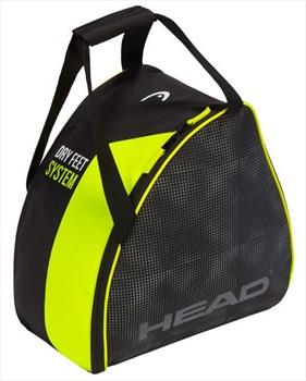 Head Ski/Snowboard Boot Bag, 30L Black/Yellow