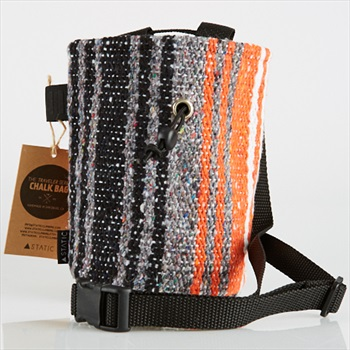 Static Traveller Series Rock Climbing Chalk Bag: Black, Grey, & Orange